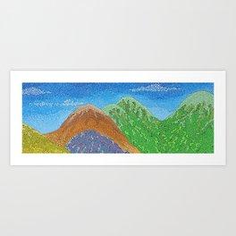 remote vista Art Print