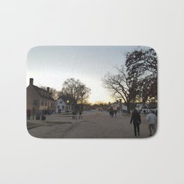 colonial williamsburg sunset Bath Mat