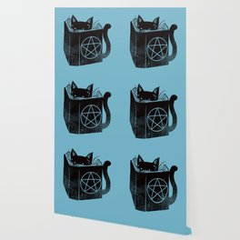 WITCHCRAFT CAT (Blue) Wallpaper