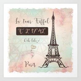 Coordinates Paris Art Print