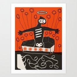 Coffin Riser Art Print
