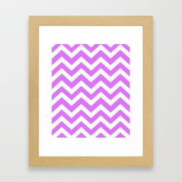 Heliotrope - violet color -  Zigzag Chevron Pattern Framed Art Print