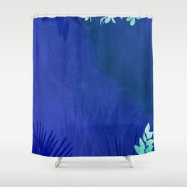 marine flowers Shower Curtain