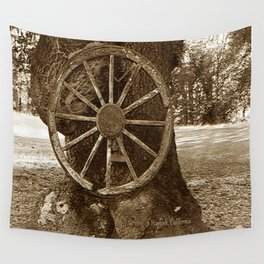 Historical Wagon Wheel Wall Tapestry