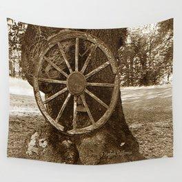 Historical Wagon Wheel Wall Tapestry