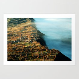 The City at the Edge of Clouds Art Print