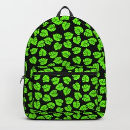 Giant  Neon Green Monstera Tropical Jungle Leaves Backpack