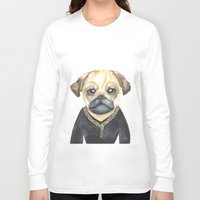gangster Long Sleeve T-shirts featuring Dog Gangster by Lucie Sperry