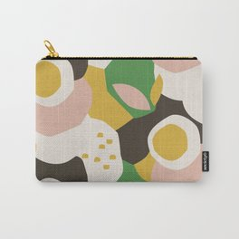 Bold Floral in Yellow, Green & Pink Carry-All Pouch