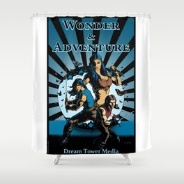 Wonder And Adventure: Dream Tower Media, Rogues of Merth Shower Curtain