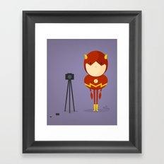 My camera hero! Framed Art Print