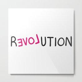 Revolution love pink grafitti Metal Print