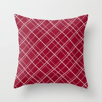 burgundy Throw Pillows featuring Burgundy Pattern by Christina Rollo
