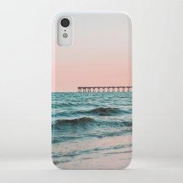 Beach Pier Sunrise iPhone Case