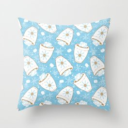 Snowing Marshmallows Throw Pillow