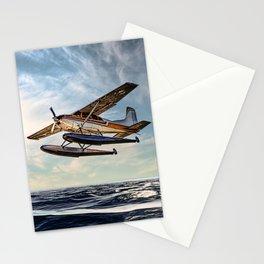 Seaplane Sunrise Stationery Cards
