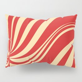 Movement in Red and Cream II Pillow Sham
