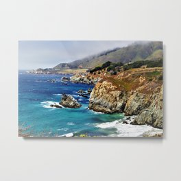 Scenic Highway 1 California by Reay of Light Metal Print