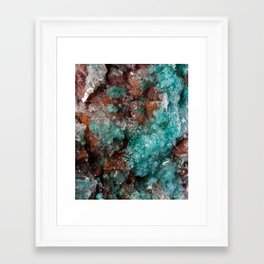 Dark Rust & Teal Quartz Framed Art Print