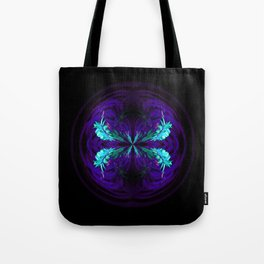 Blue flowered globe abstract Tote Bag