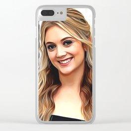 Billie Lourd - Celebrity Art Clear iPhone Case