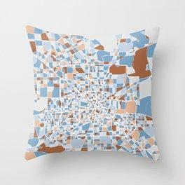 Houston City Map Art Throw Pillow