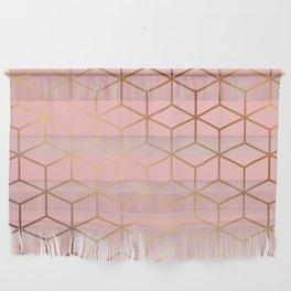 Pink and Gold Geometry 011 Wall Hanging