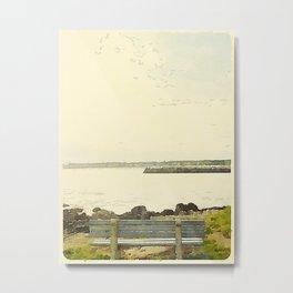 Kennebunkport Coast Metal Print