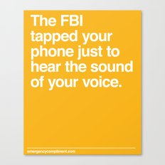 FBI Tapping Canvas Print