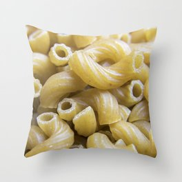 Elbow Macaroni Pasta Throw Pillow