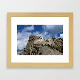 Mount Rushmore National Memorial Framed Art Print