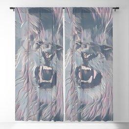 Faded Pastel Lion Blackout Curtain