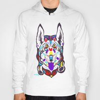 husky Hoodies featuring Husky  by PastelxPalette