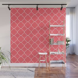 Coral Red Moroccan Wall Mural