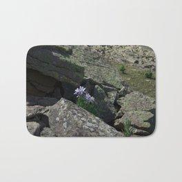 Columbines on a Rock Slide Bath Mat