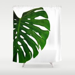 Banana Leaf (Color) Shower Curtain
