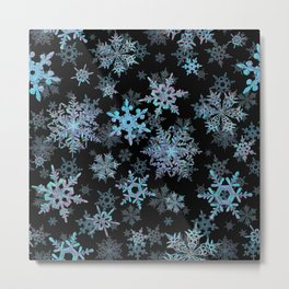 """Embroidered"" Snowflakes Metal Print"