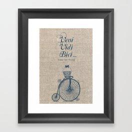 Veni. Vidi. Bici Framed Art Print