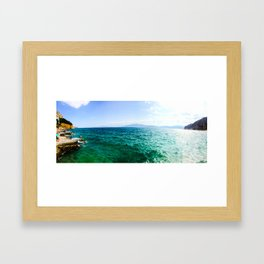 Nafplio Beach Framed Art Print