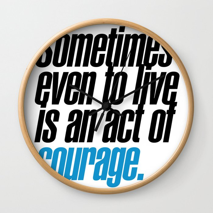 seneca quote, typography art Wall Clock