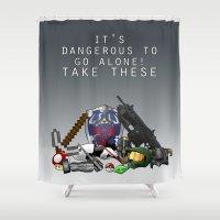 gamer Shower Curtains featuring Gamer  by Ioana Muresan