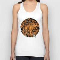 camouflage Tank Tops featuring Tiger Camouflage by Sam Jones Illustration