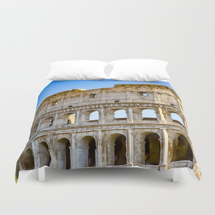 Vita Bellissima (Beautiful Life): Colosseum in Rome, Italy Duvet Cover