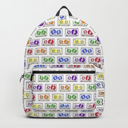 Rainbow Cassette Tapes Backpack