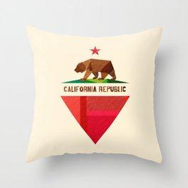 California 2 (rectangular version) Throw Pillow