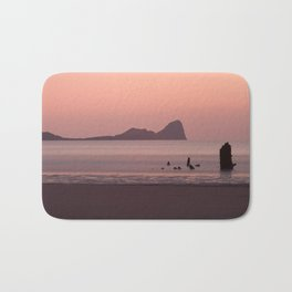 Sunset at Rhossili Bay South Wales Bath Mat