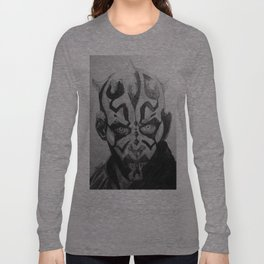 Darth Maul Portrait Pencil Long Sleeve T-shirt