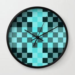 Blue Mood Pixel Wall Clock