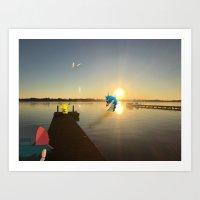 Pokamon Sunset Art Print