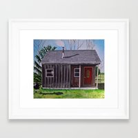cabin Framed Art Prints featuring Cabin by Minx Paints